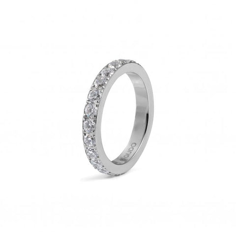 Eternity Silver Big Spacer Ring - Tricia's Gems