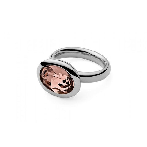 Tivola Small Stainless Steel Ring With Vintage Rose - Tricia's Gems