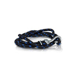 HOOK BLACK-BLUE CORD BRACELET