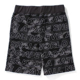 Bape Text Color Camo Sweat Shorts