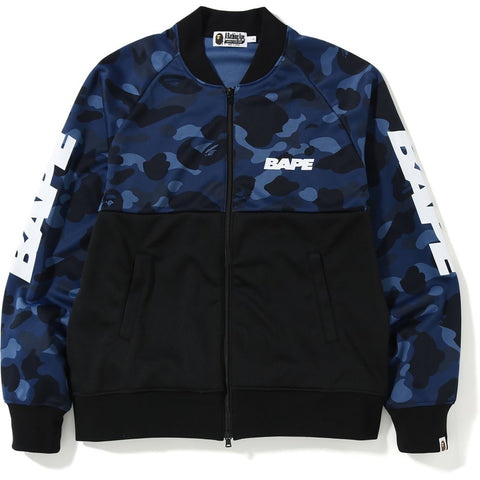 Bape Color Camo Front Zip Jersey Jacket