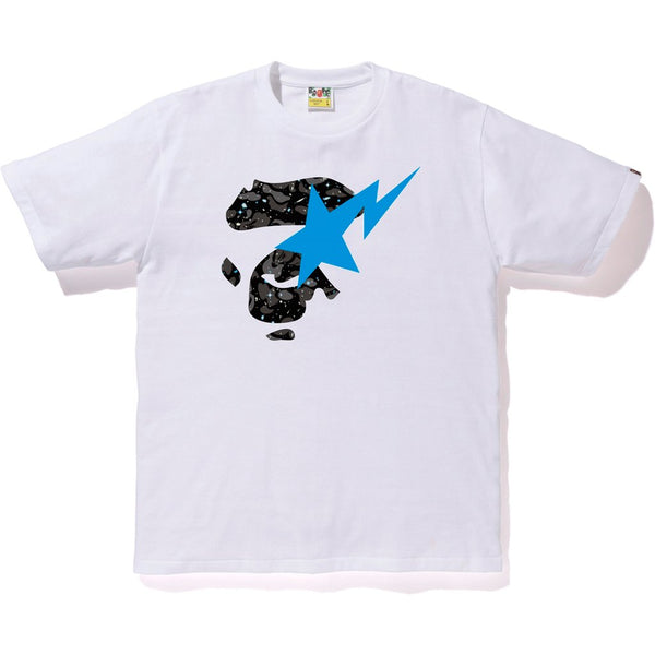 Bape Space Camo Ape Face On Bapesta Tee