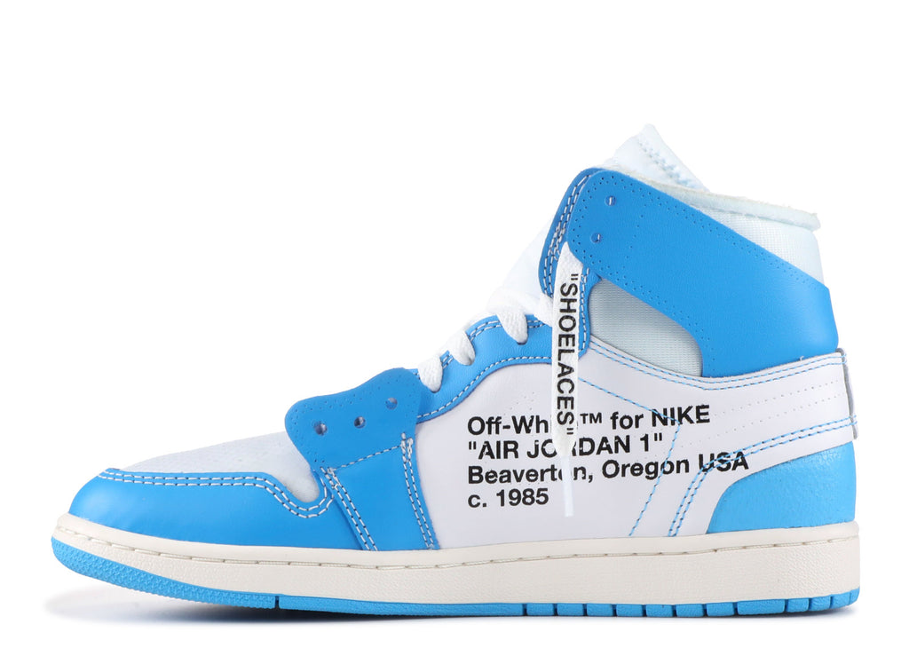 "058218020a3 Air Jordan 1 Retro High x ""Off White"" UNC – Authentic Sole Boutique"