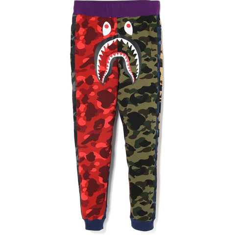 Bape Mix Camo Shark Crazy Slim Sweat Pants