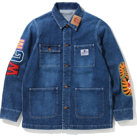 Bape Shark Denim Coverall Jacket
