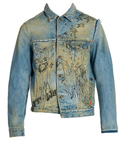 Off-White Wizard reconstructed denim Jacket