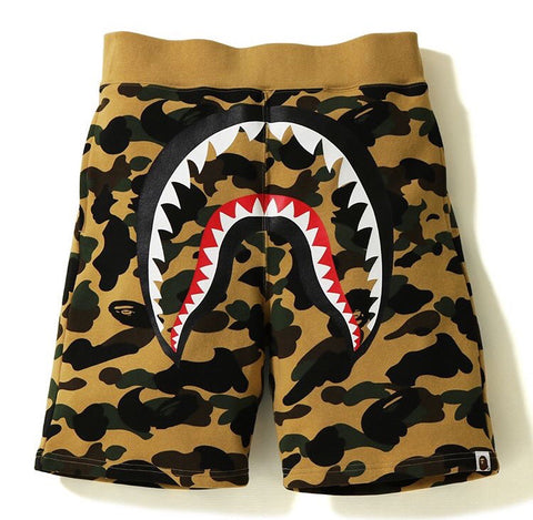 Bape 1st Camo Shark Sweat Shorts