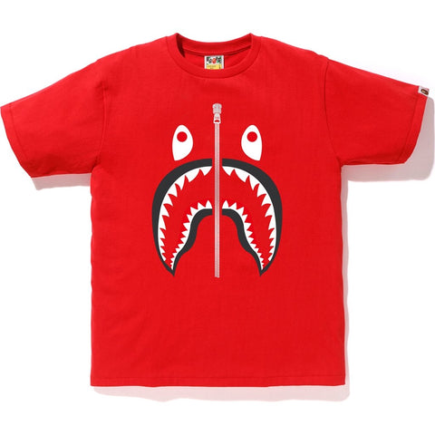 Bape Color Camo Shark Tee- Red