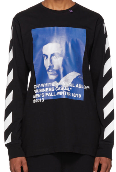 Off-White Black Diagonal Bernini Long Sleeve T-shirt