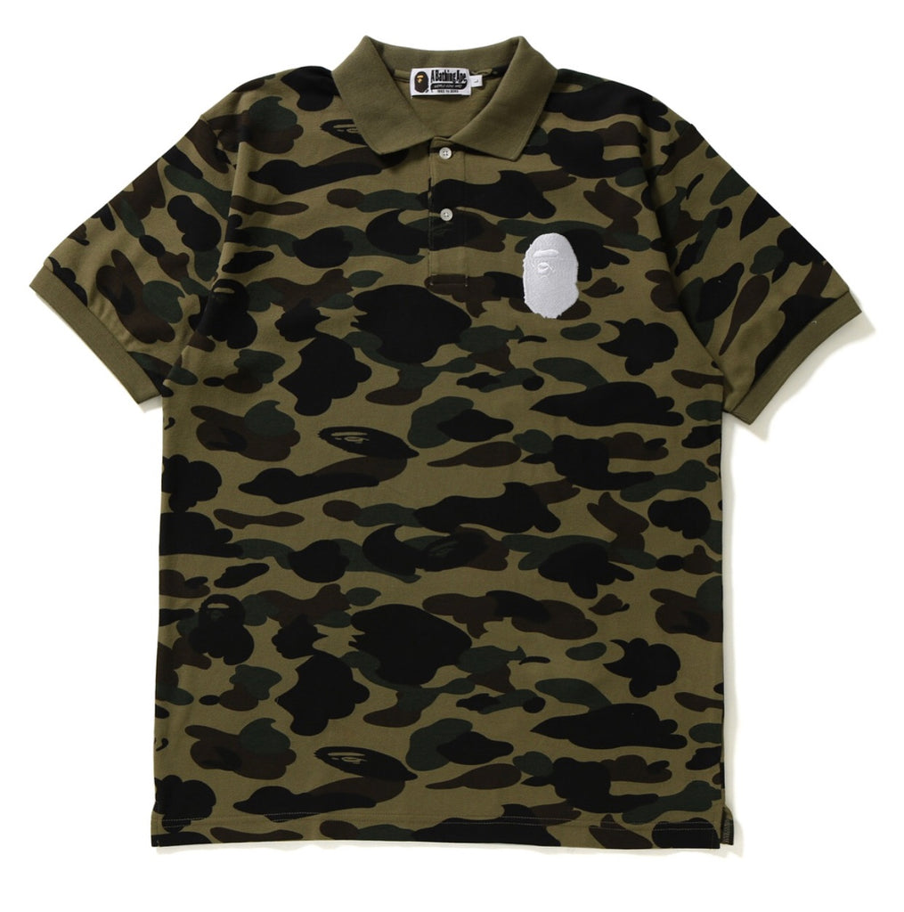 bc8c86b3f087 Bape 1st Camo Large Ape Head Polo – Authentic Sole Boutique