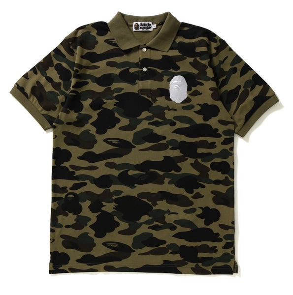 Bape 1st Camo Large Ape Head Polo
