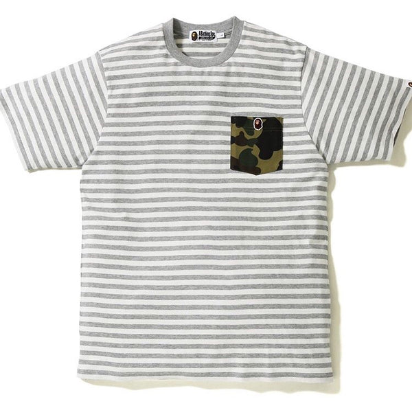 Bape 1st Camo Pocket One Point Hoop Tee