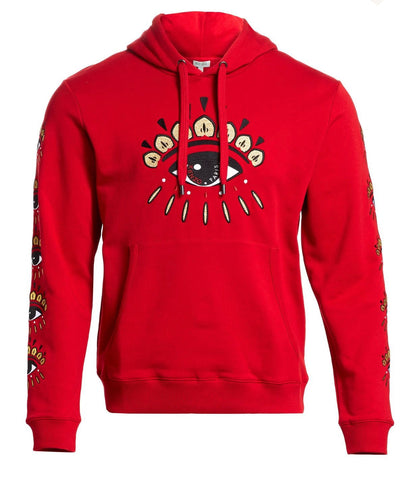 Kenzo Eye Embroidered Hoodie-RED