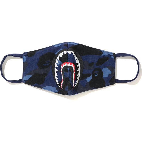 Bape Color Camo Shark Mask- navy