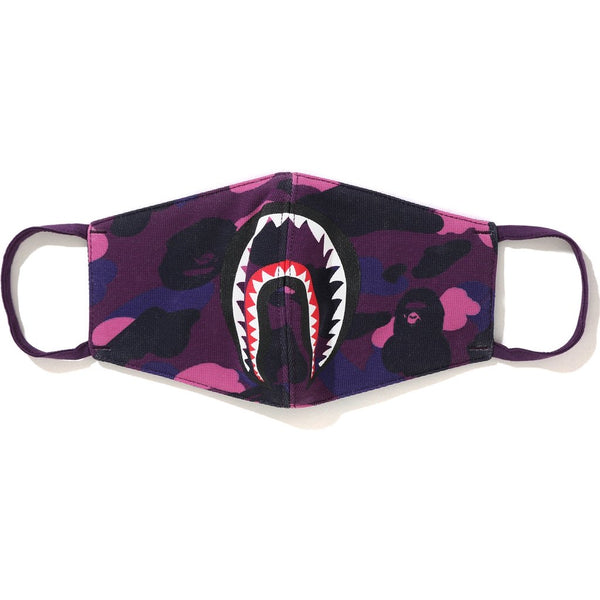 Bape Color Camo Shark Mask- purple