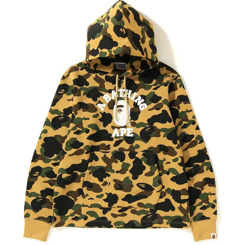 Bape 1st Camo College Wide Pullover Hoodie