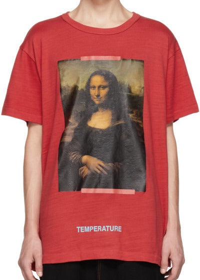 494871cbd984 Off-White Exclusive Red Mona Lisa T-shirt – Authentic Sole Boutique