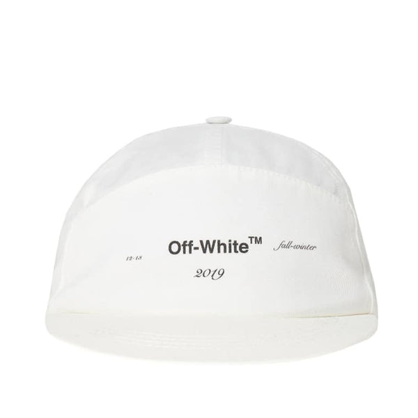 ee423a6c1a03f0 Off-White White Logo Snapback Hat – Authentic Sole Boutique