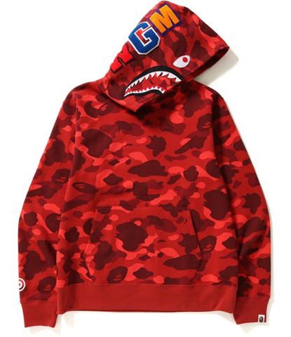 Bape Color Camo Shark wide pullover