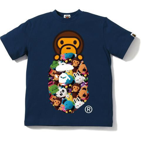Bape Milo All Plush Doll Milo on Ape Head Tee-kids