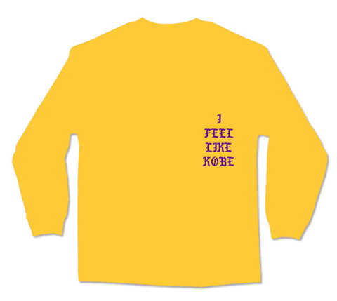 "Kanye ""I feel like Kobe"" Long Sleeve T-shirt"
