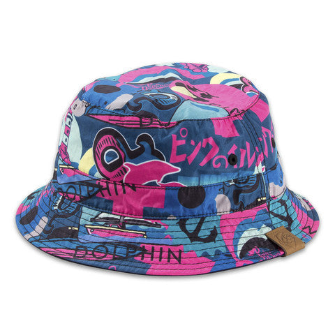"Pink Dolphin ""Timeless Reversible"" bucket hat"