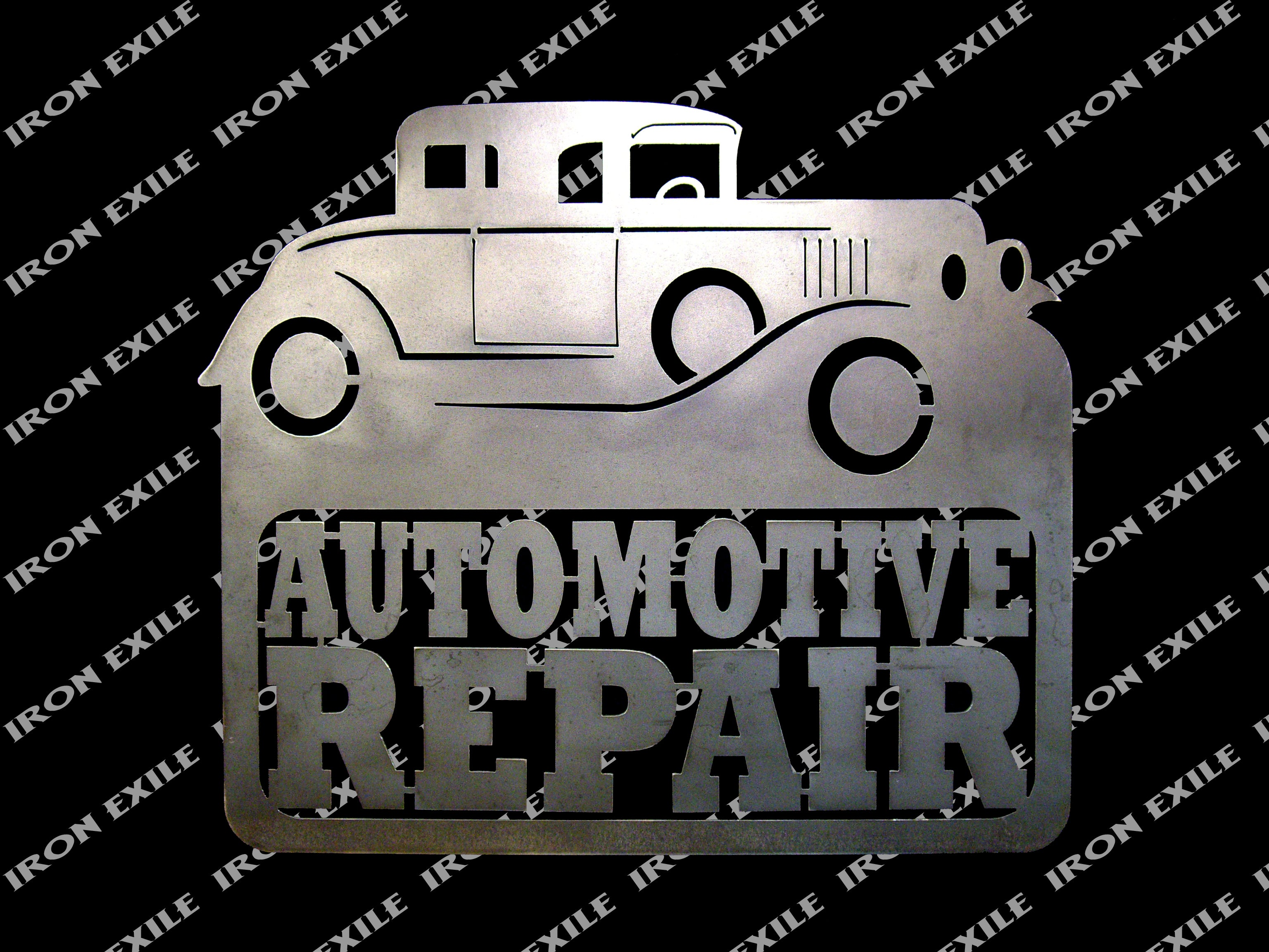 Military Man Cave Signs : Automotive repair garage sign wall art decor hot rod