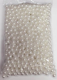 Faux Pearl Ivory or White 10mm beads (Ivory) FAU1-2 - Richview Glass Wedding Supplies