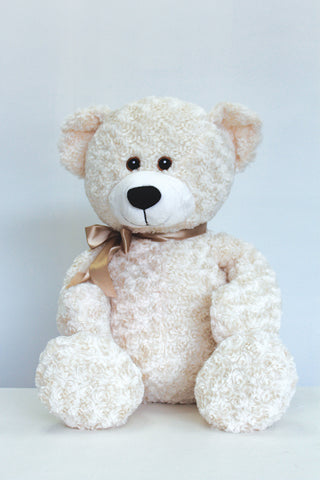 "11"" White Barnaby bear - Richview Glass Wedding Supplies"