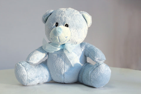 "Blue Timothy Bear 8"" - Richview Glass Wedding Supplies"