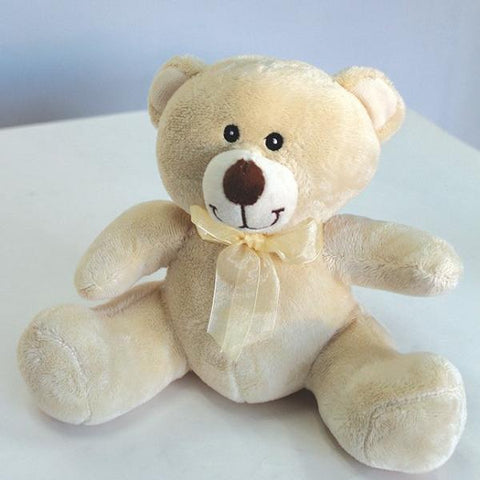 "8"" Cream Timothy Bear - Richview Glass Wedding Supplies"