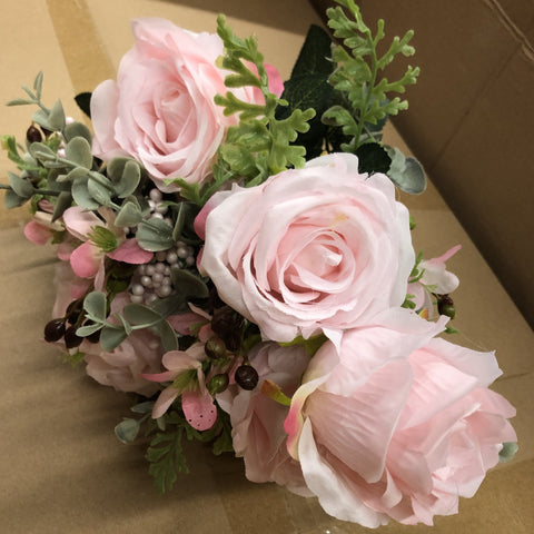 Pink ROSE BUNCH With fillers
