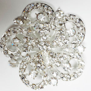 Diamond Brooch decoration - Richview Glass Wedding Supplies