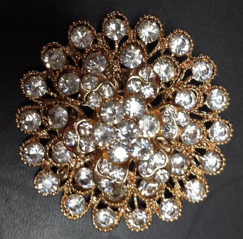 Gold Rhinestone Diamond Brooch decoration - Richview Glass Wedding Supplies