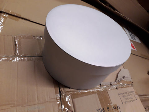 Round grey Cardboard box For fresh or preserved Flowers