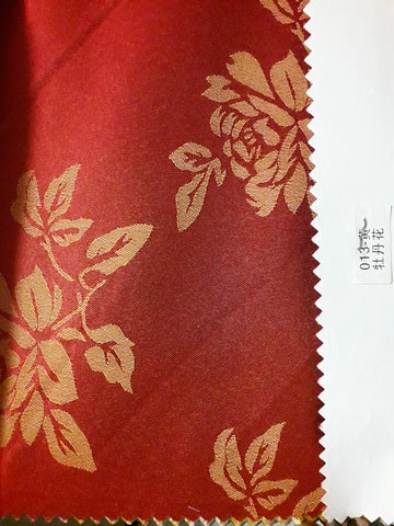 "Visa Damask Table Cloth Square 90""x156 (RED)- 013"