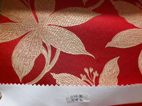 "visa damask Table Cloth Square 90""x156 (Red with Flower)- 038"
