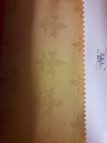 "Visa damask tablecloth 90""x156 (Yellow  with small flowers )- 035"