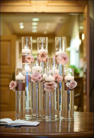 "28""x4"" Tall Thin Cylinder Vase simple centrepieces MV600-70 - Richview Glass Wedding Supplies"