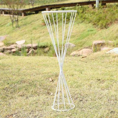 "30"" Reversible triangle stand  (White) - Richview Glass Wedding Supplies"