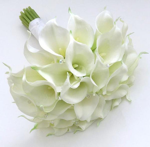 Real touch calla lily Medium wedding decor (White)-SB113WH