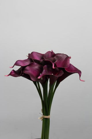 Real touch calla lily Medium wedding decor (Purple)-SB113
