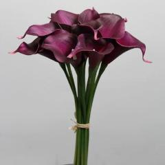 real touch purple calla lily