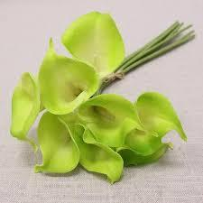 Real touch calla lily lilies smallSB026/bunch wedding decor(Green) -809ACA47