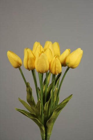 12xReal Touch PU flower Tulip artificial wedding decor Floramatique (Yellow)-E6E378A0 - Richview Glass Wedding Supplies