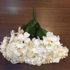 Artificial Flower Ivory/Cream Hydrangea Bunch 7 head silk - Richview Glass Wedding Supplies