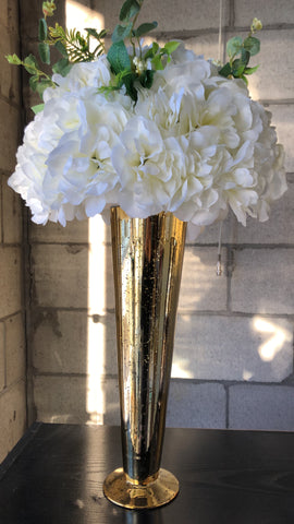 Artificial Flower Rose Hydrangea Arrangement Cream - Richview Glass Wedding Supplies