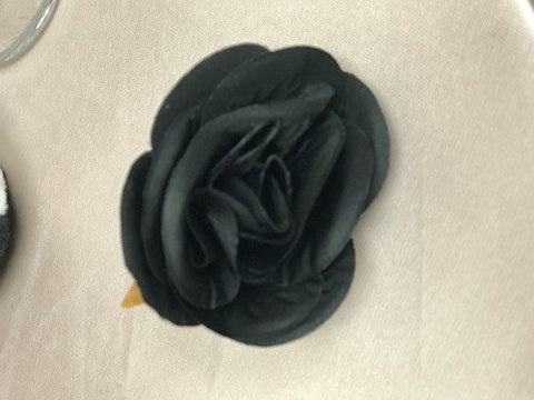 12xARTIFICIAL FLOWER HEAD WEDDING DECOR ROSE FLOWER (black)-98570746 - Richview Glass Wedding Supplies