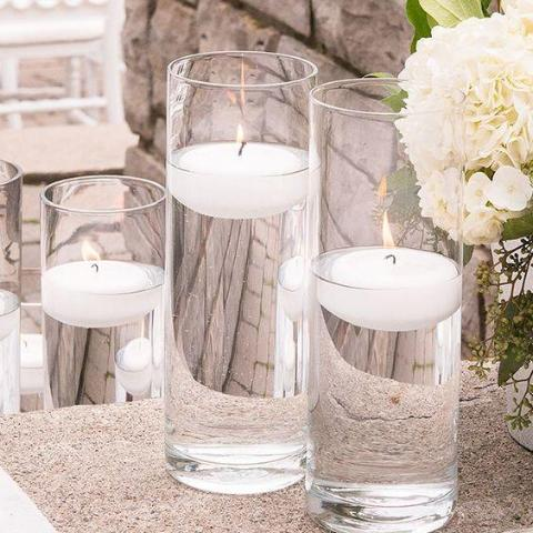 "Clear Cylinder Vase 10""Hx4""D -MM - Richview Glass Wedding Supplies"