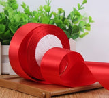 "Satin Ribbon 2"" wide 22 meter (red)-E667975F-5"
